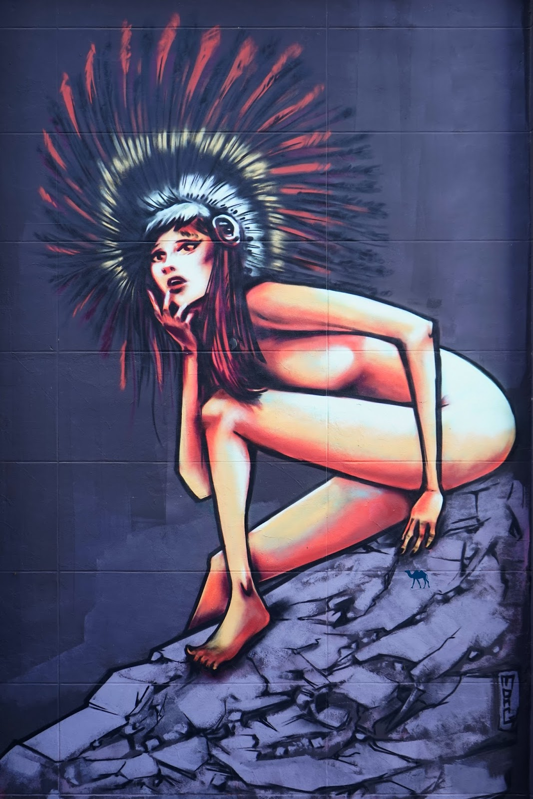 Le Chameau Bleu - Street art - L'indienne