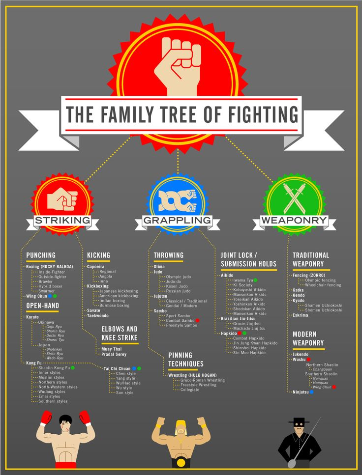 The Family Tree Of Fighting   STRENGTHFIGHTER.COM