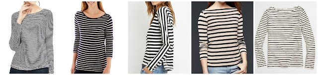 Slubbed Stripe Boatneck Tee • $9.97 (reg $40) STYLUS Stylus 3/4-Sleeve Striped Boatneck T-Shirt • JCPenney • $9.99 (reg $26) FOREVER 21 contemporary striped reverse french terry top • Forever 21 • $12.99 (reg $18) Modern stripe boatneck tee • Gap • $14.99 (reg $25) Factory long-sleeve striped boatneck T-shirt • J.Crew Factory • $39.50 (reg $50)