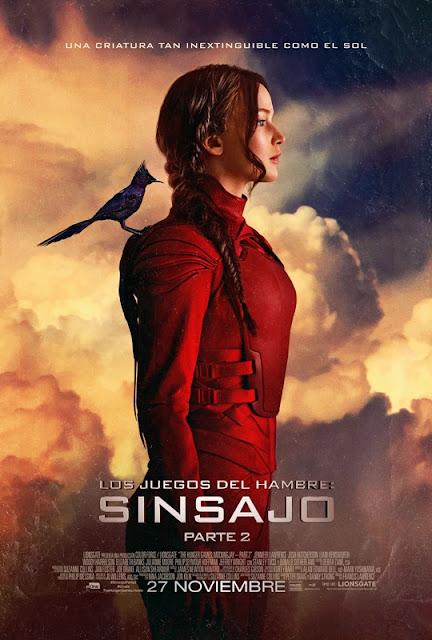 Cartel de Katniss Everdeen (Jennifer Lawrence) para Los Juegos del Hambre. Sinsajo parte 2 - Cine de Escritor