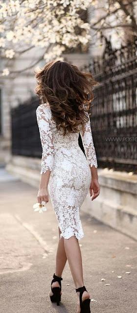 White laces bodycon Dress