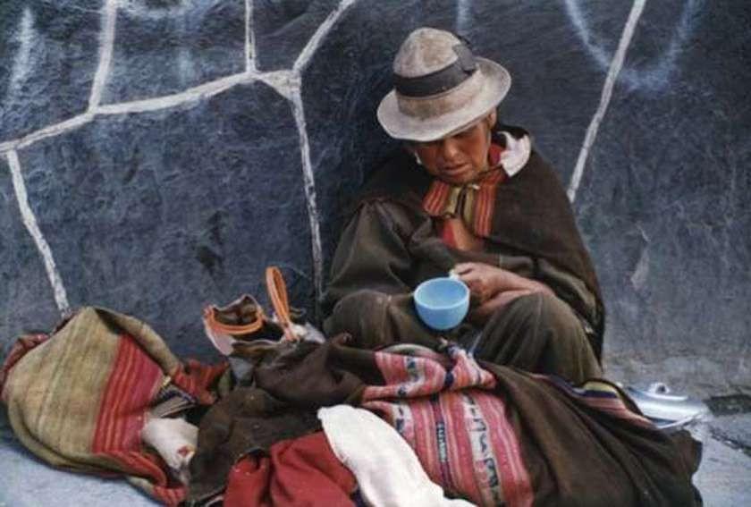 Pese a la bonanza de la última década la pobreza es evidente en las calles