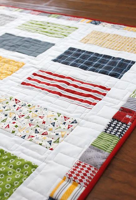 Jolly Bar quilt with Varsity fabrics from Moda