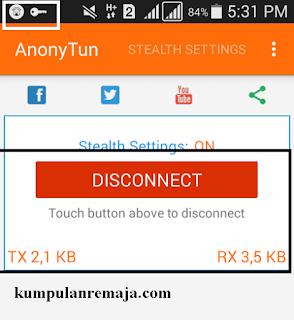 Connect aplikasi Anonytun Pada krtu Tri