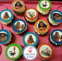Moana Edible Image Cupcakes