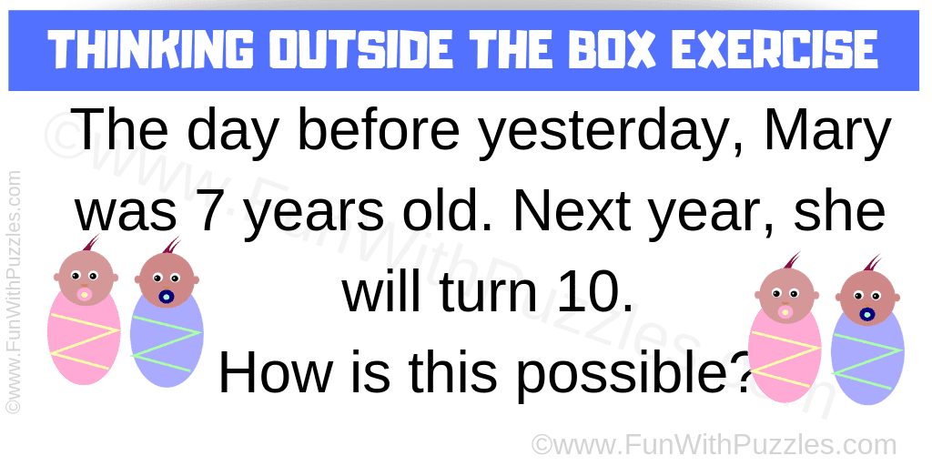 Thinking Outside The Box Exercise With Answer Fun With Puzzles