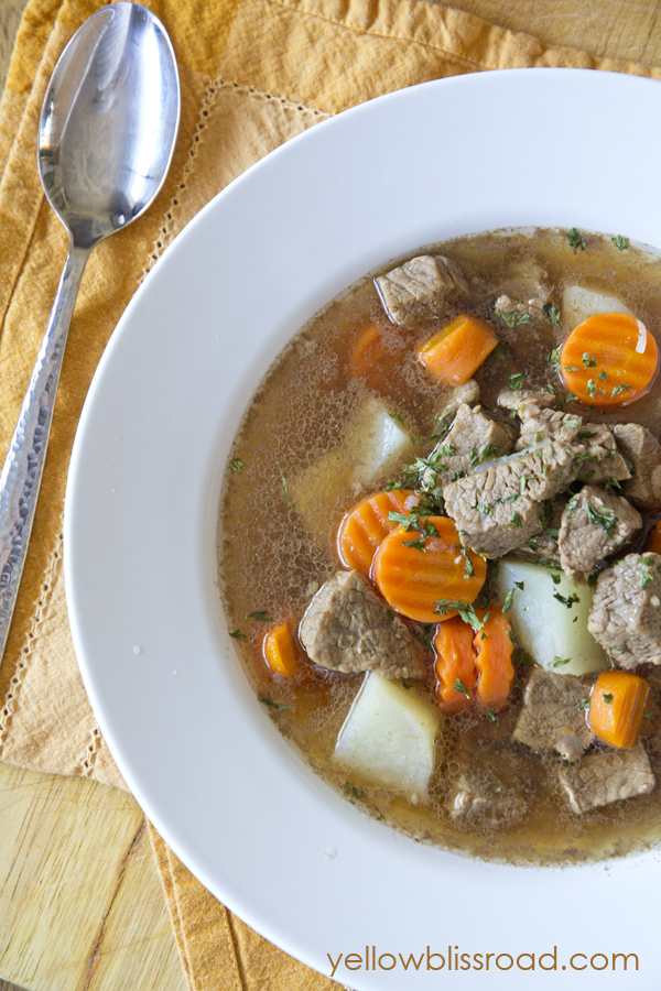 Smoky Tri Tip Soup, perfect for cozy fall and winter nights! It's the perfect combination of smoky and savory. Delicious!!