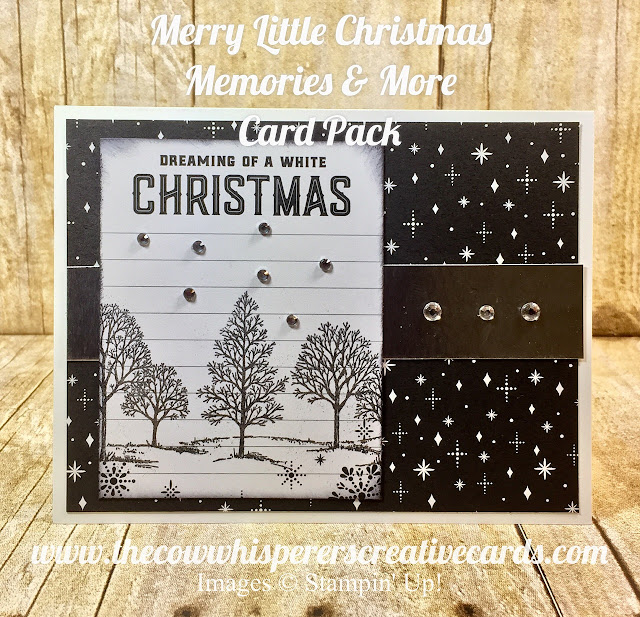 Merry Little Christmas, Memories & More Card Pack, Designer Series Paper, Christmas Card, Black & White Christmas Card, Stampin UP
