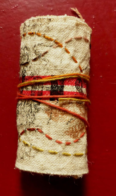 catherine herbertz tampographie art textile enroulure