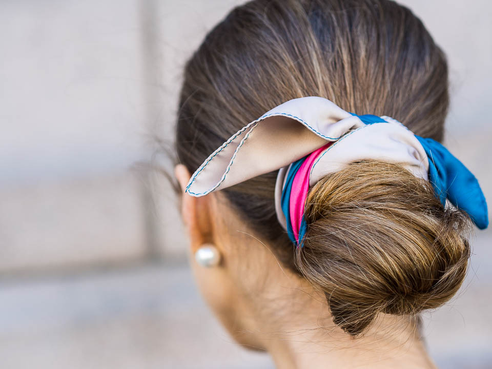 low-bun-with-silk-scarf