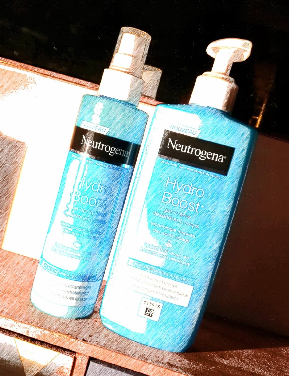Neutrogena Hydro Boost : Gel crème & Aqua Spray Lacté désaltérant