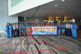 nah sampai juga di bandara Changi Singapura