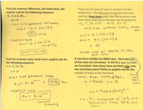 Beautiful Math: PreCalculus Sequences 2017