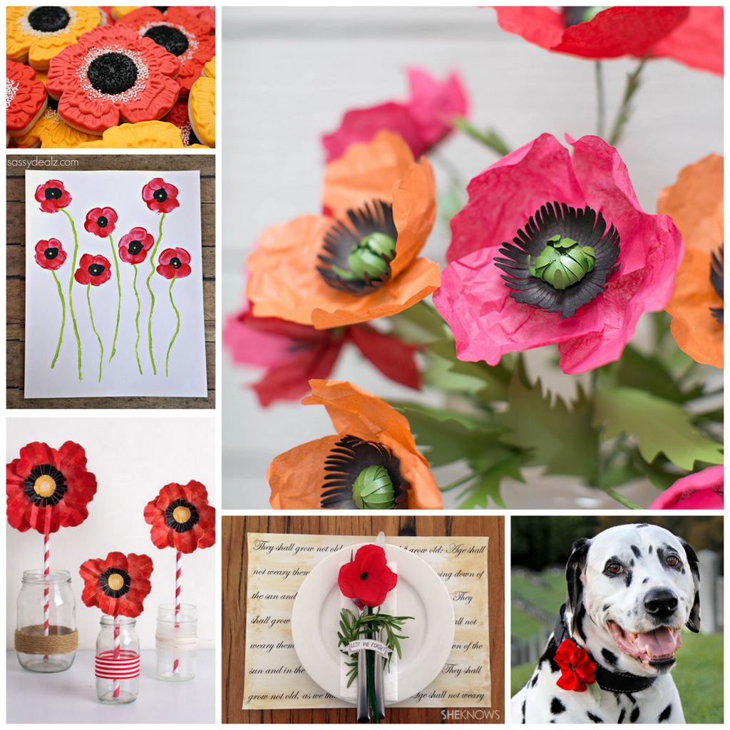 Creativity Unmasked Six For Saturday Or Sunday Anzac Day Poppy Crafts