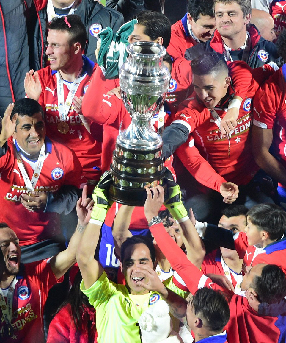 Argentina vs Chile final match photos