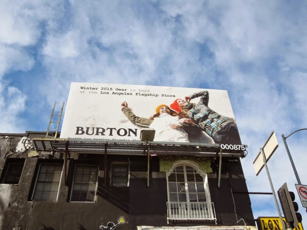 Burton Winter Gear 2015 billboard