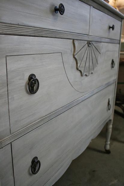 Reloved Rubbish Whitewashed Vintage Dresser
