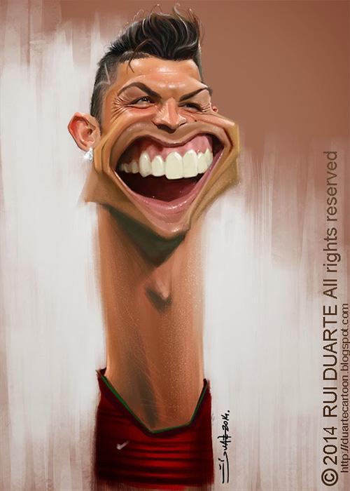 """Caricatura de """"Cristiano Ronaldo - CR7"""" por Rui Duarte"""