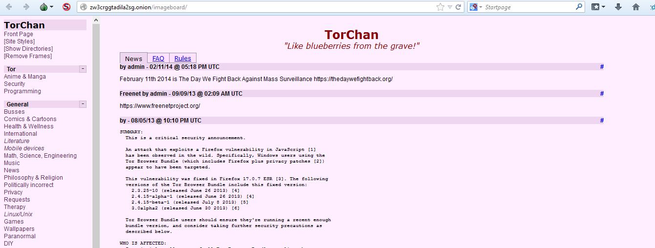 Deep Web: Tor Chan