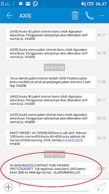 Bukti Pembayaran Pulsa Gratis dari Aplikasi Baca Plus