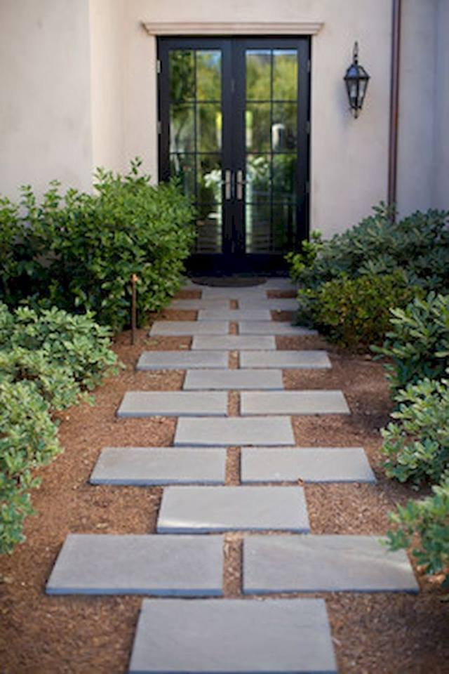20 Inexpensive Easy Gravel Paths, Walkway And Stepping ... on Backyard Walkway Ideas id=22642