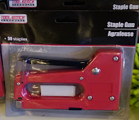 Tool Bench brand red staple gun refillable $1 DollarTree hardware agafeuse