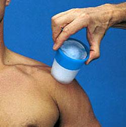 Криомассаж - массаж кусочком льда
