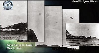 UFOs Photographed Over Barra da Tijuca, Brazil May 7, 1952