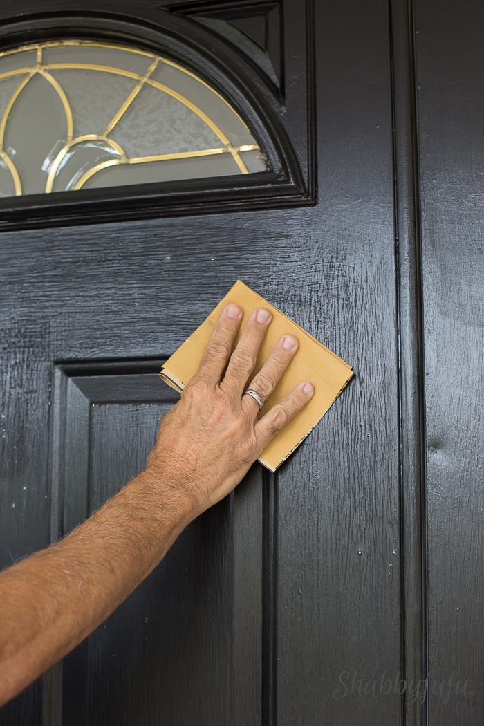 sanding front doors by hand
