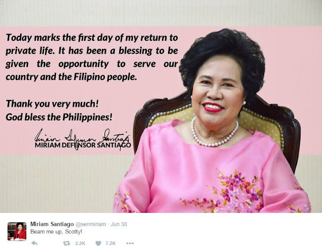 'Thank You Very Much' Miriam's Last Message To The Filipinos Before She Died! MUST READ!!