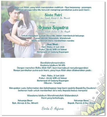 Membuat Undangan Pernikahan dengan Menggunakan Kertas Jasmine