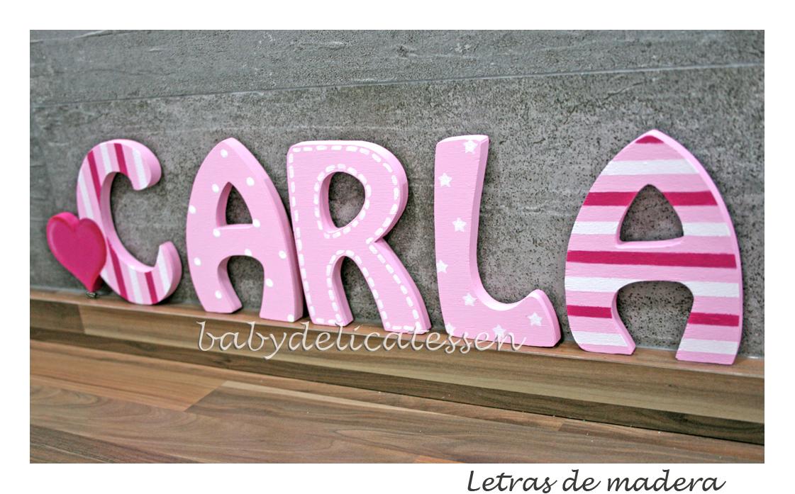 Baby delicatessen letras de madera carla - Letras en madera ...
