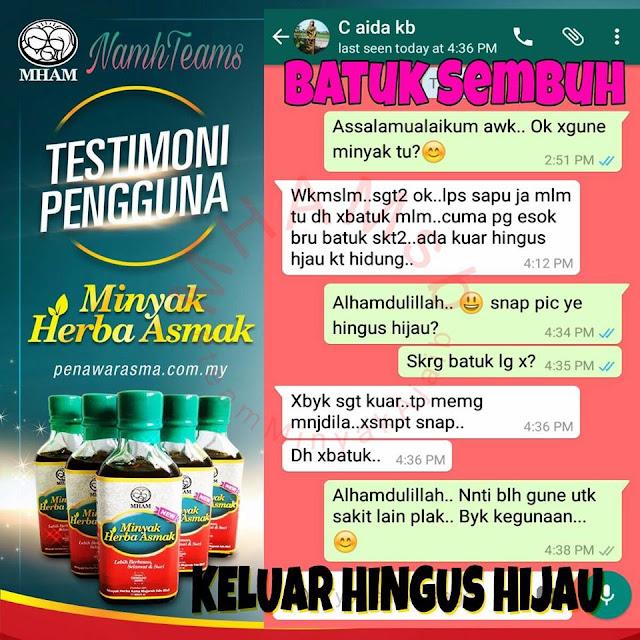 testimoni minyak herba asmak