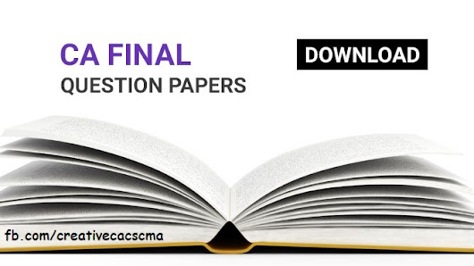 Download CA Final Question Paper May 2016