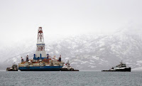 Shell made the first attempt at offshore drilling in American Arctic waters in 2015, but its exploratory well didn't produce enough oil or gas. Because of that and falling oil prices, many large companies abandoned plans for the region. (Credit: Tim Aubry/AFP/Getty Images) Click to Enlarge.