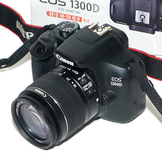Kamera Canon 1300D Lensa Kit Fullset Second