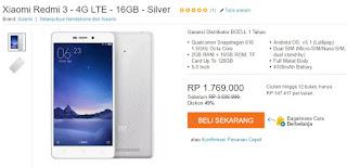 Harga Xiaomi Redmi 3 Android Murah 5 inch LTE Rp 1 Jutaan