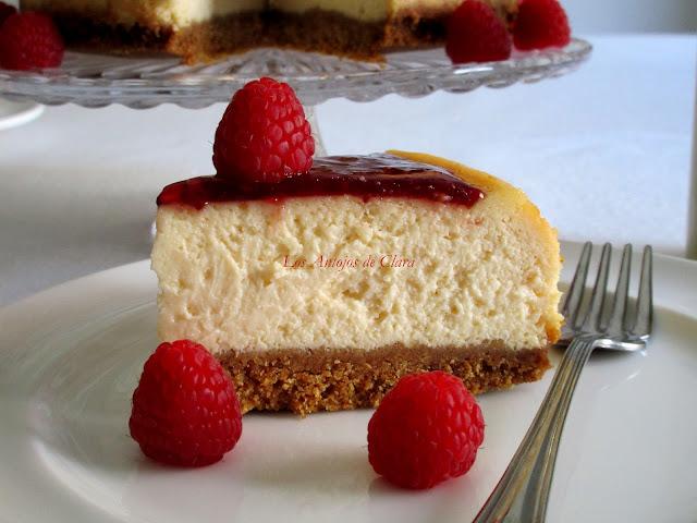 Cheseecake con mermelada de frutos rojos
