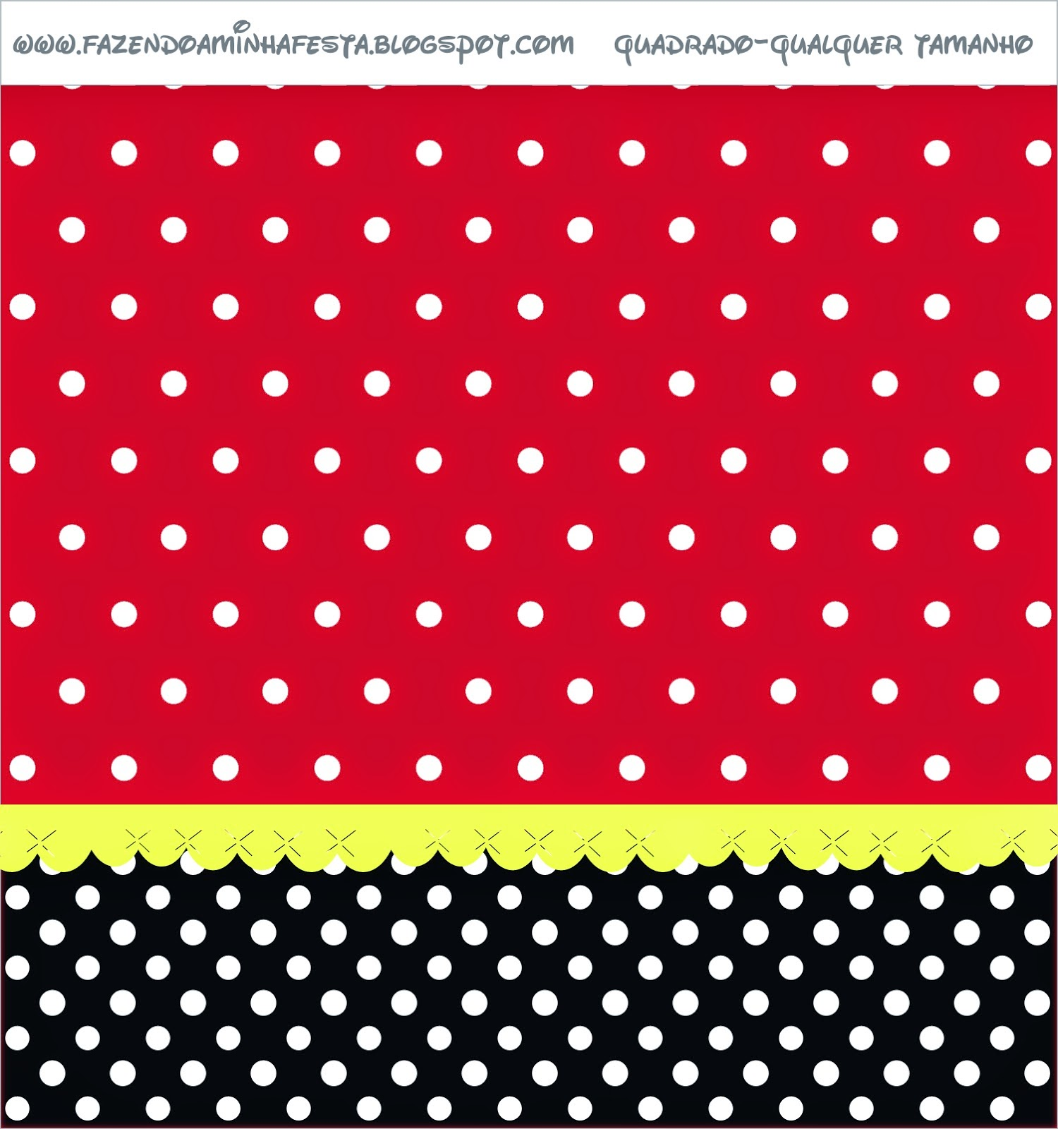 red  black and white polka dots  free printable candy bar