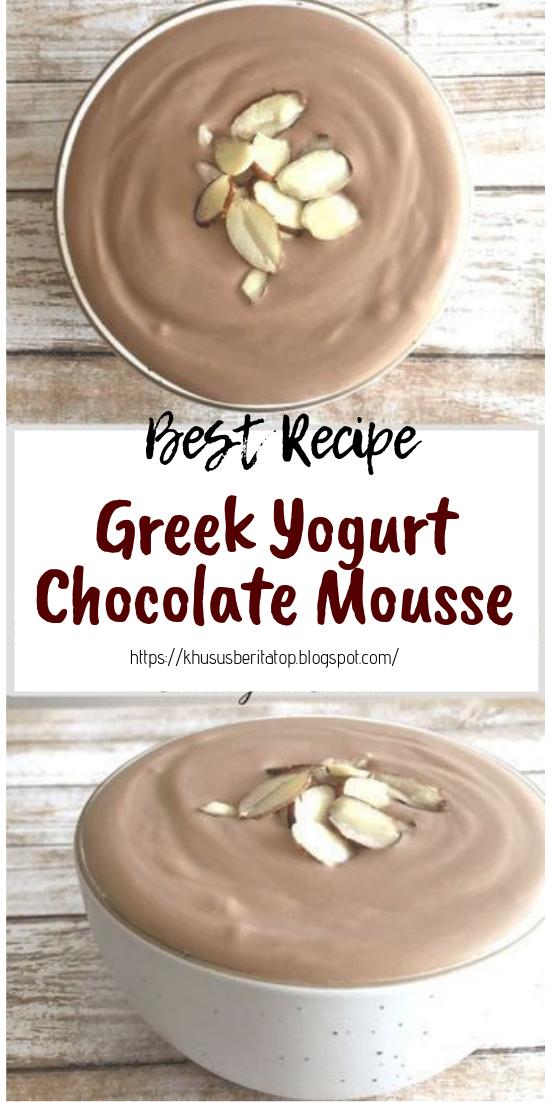 Greek Yogurt Chocolate Mousse #healthyfood #dietketo