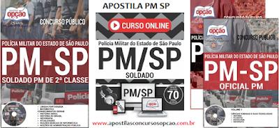 Apostila PM-SP atualizada 2017 para Soldado da Polícia Militar de SP.