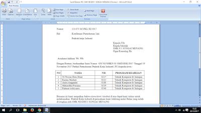 Contoh Surat Balasan Untuk Pkl Psg Prakerin Smk