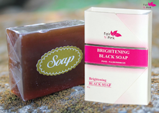 Sabun Hitam atau Brightening Black Soap Fair n Pink