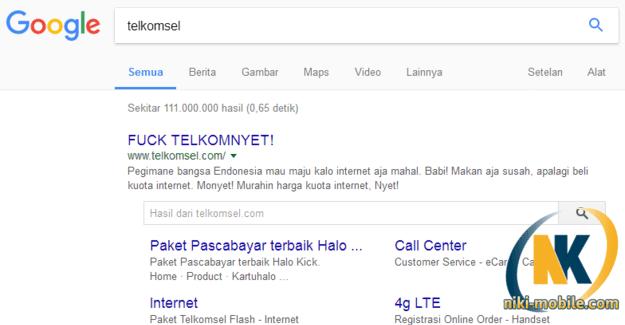 Ketik Keyword Telkomsel di Google Hasilnya Bikin Kaget