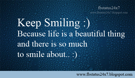 Famous Fb Status About Smile