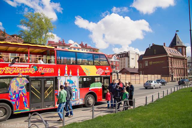 Двухэтажный автобус Казань