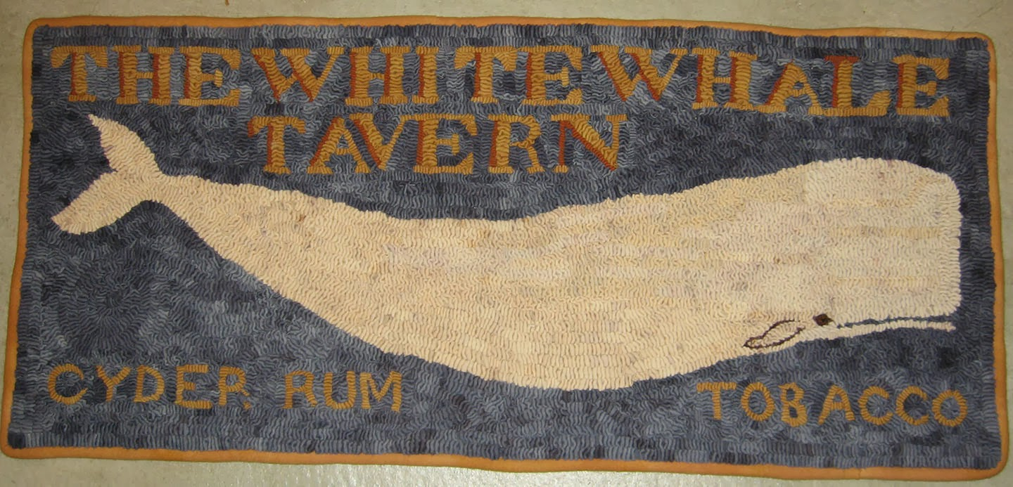 The White Whale Tavern Rug Was A Great Centerpiece For The Back Wall Of Our  Booth At Rhinebeck. I Was Floored (thatu0027s A Rug Hookeru0027s Pun) By Its  Reception ...