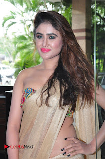 Sony Charista in sizzling Saree and Choli at Aura Fashion Exhibition Launch