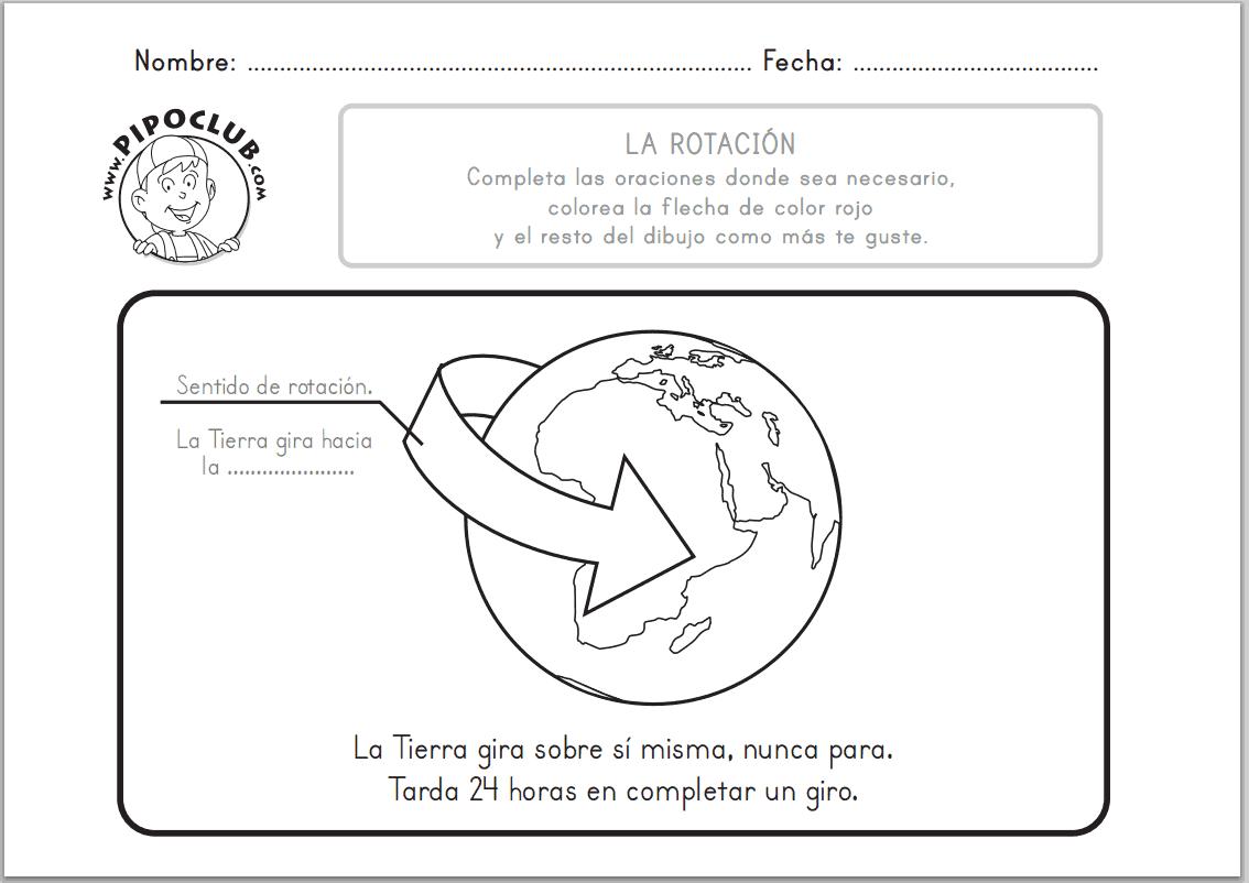 Juegos Educativos Pipo La Rotacion De La Tierra