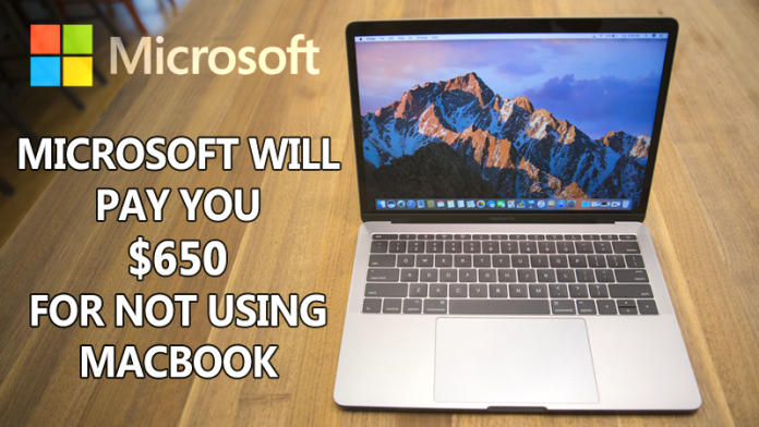Microsoft is Paying $650 For Not Using Apple's MacBook